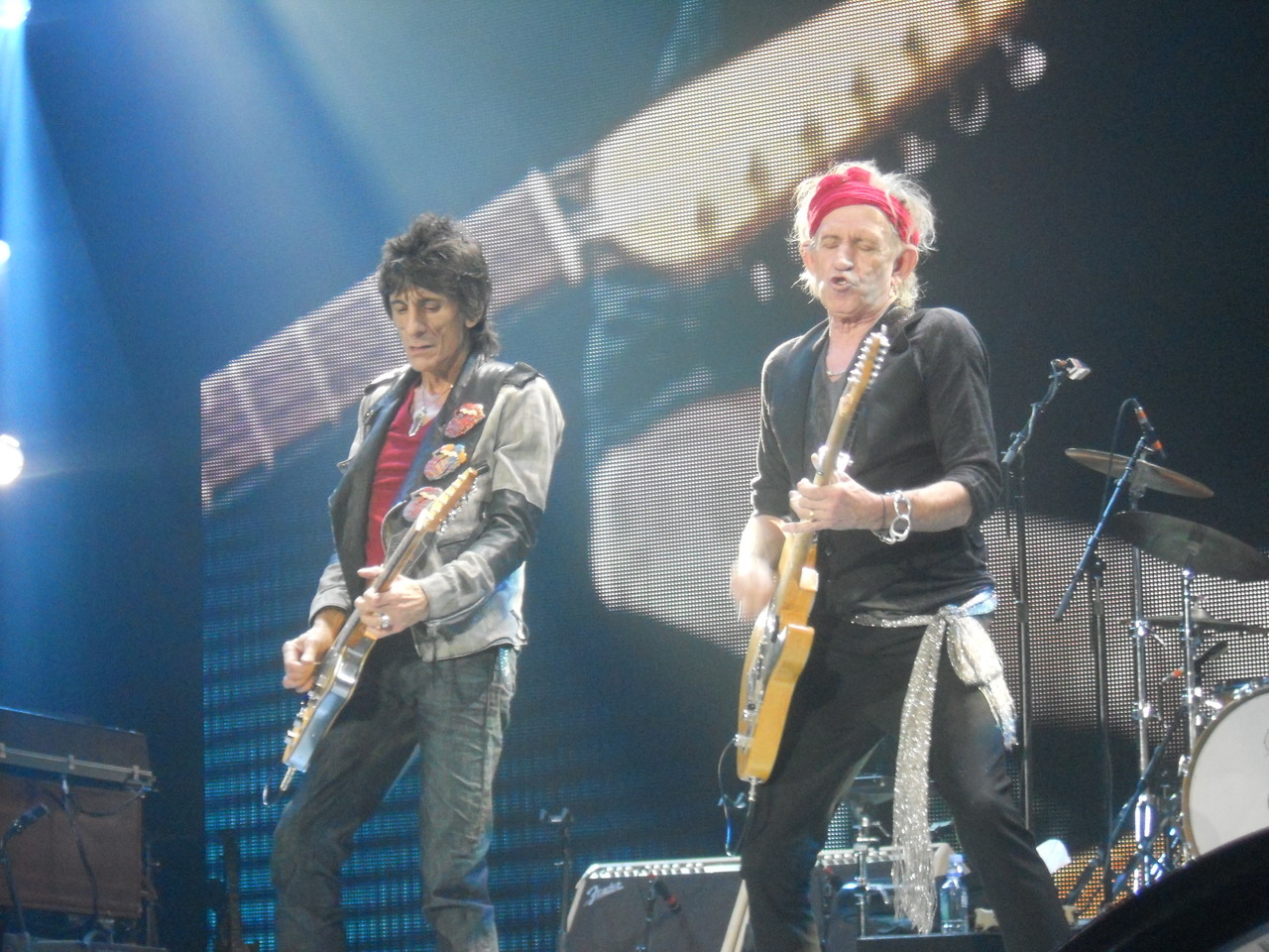 CE 25 NOVEMBRE 2012 A O2 ARENA, LONDRES, RON WOOD et KEITH RICHARDS trudiesledge:  Ronnie Wood & Keith Richards 25th November 2012 The O2, London