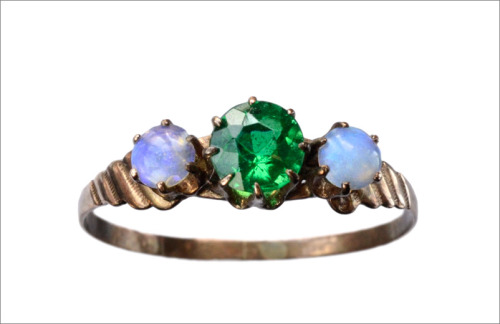 eriebasin:  1890s Green Paste & Opal Doublet Ring (in the online shop)