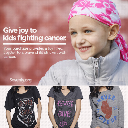 staypozitive:  No child should EVER experience the pain of cancer, but for those brave little ones who do, they need all the joy they can get. These shirts help give a jar full of toys to a child fighting to stay alive.CLICK HERE TO GET YOUR SHIRT AND GIVE JOY TO ONE OF THESE CHILDREN WHO ARE SUFFERING FROM CANCER.