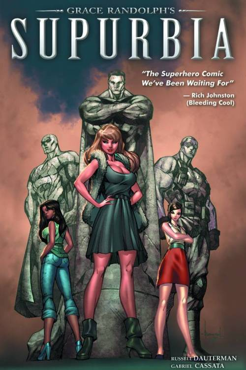 Market Monday Supurbia vol. 1 TP, written by Grace Randolph What goes down when the capes come off? Meet the 'Real Housewives' of Earth's greatest super-team, the Meta Legion! It's the egos, the tantrums, and the betrayals of the super set. Find out what happens behind the masks as superhero families are faced with the sordid problems of everyday life - and then some! From rising star writer Grace Randolph (Marvel's NATION X, HER-OES) and hot new artist Russell Dauterman, this series takes the familiar super-team and turns it on its head with a scandalous, TMZ-fueled look at what it's like to live with a superhero! Shopping Options: IndieBound Amazon TFAW Graphicly (digital)