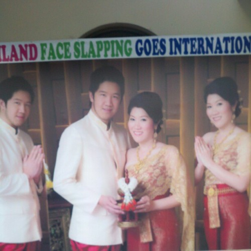 Thailand face slapping foes international! #lol #wtf #sf