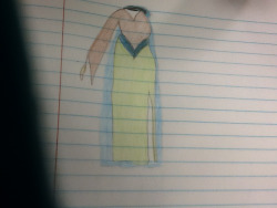 Draw a piece of made up clothing… I love it but I don't know how to sew!!!
