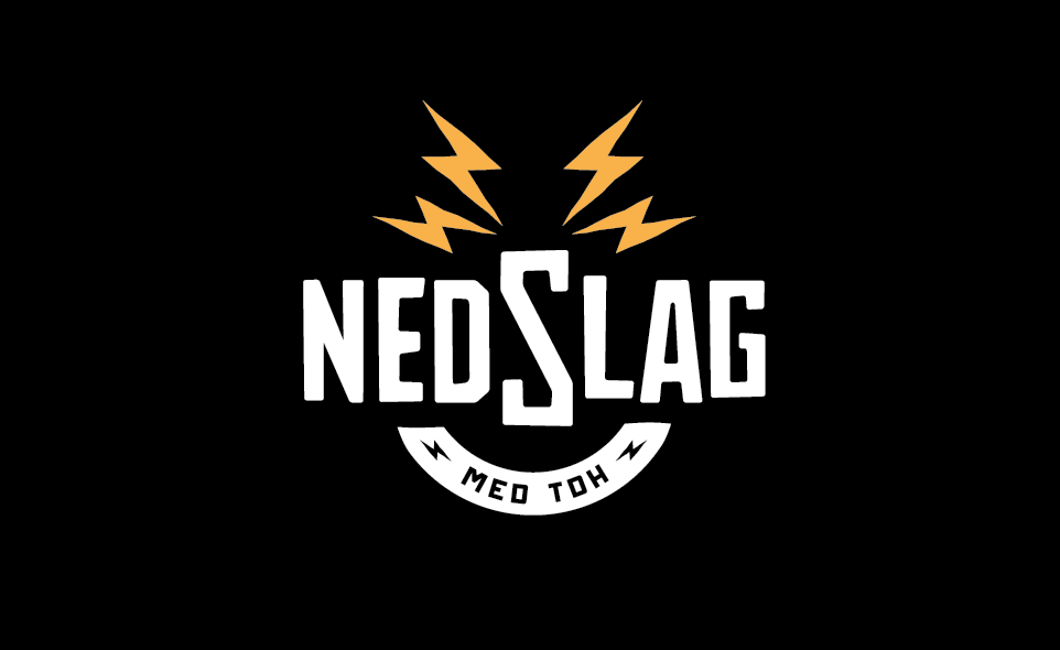 Logo for a friends web tv show called Nedslag, swedish for impact(-ish). He also has one of the thunderbolts tattooed on his finger, which is why he wanted to use that as a symbol.