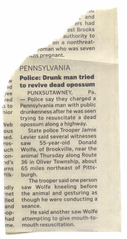 Clipping from the local paper. Thanks Grandma!
