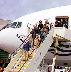 Cast and crew of 'The Hobbit: An Unexpected Journey' landing in New Zealand (x)