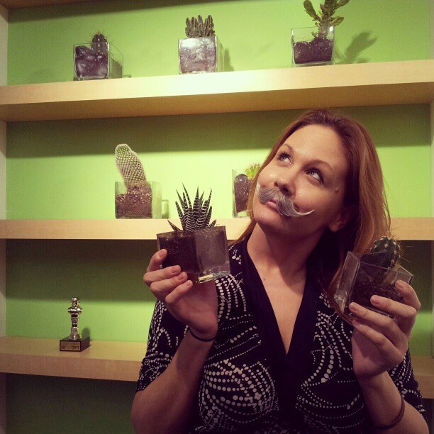 Today's daily 'stache pic gets a little prickly… #Movember #30daysofmo #mosista