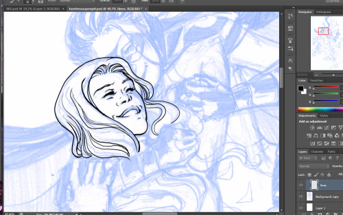 Practicing my digital inking on this Supergirl and Robin piece because I'm inking my current comic project digitally.  I picked up Brian Haberlin's 'digital inking tutorial' CD while I was at SDCC and I don't regret a single cent, worth it for the inking brushes alone. You can buy the copy I got for myself here for $24.99 instant download.