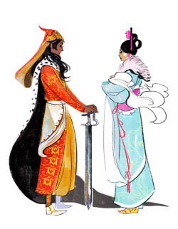 bryankonietzko:  lalage:  Princess and prince  Impeccable!