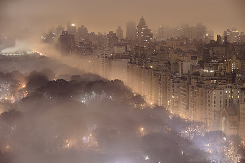 Foggy Night, New York City  photo via rishabdreamz