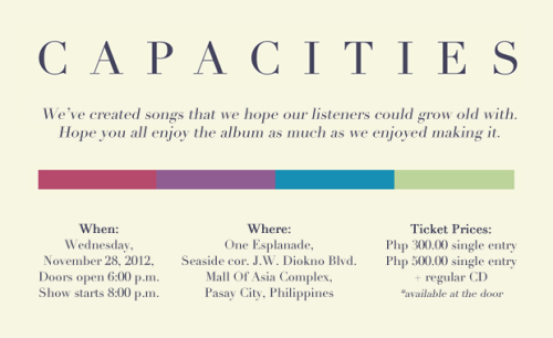 Suit up and show up at Up Dharma Down's Capacities album launch tomorrow night!