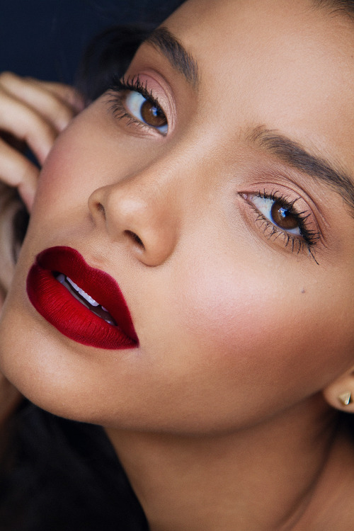 makeupbeauty:  I've probably reblogged this a lot, but look at them lips!