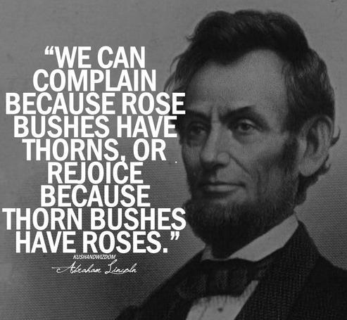 Abraham Lincoln speaks the truth folks!