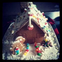 Yearly Christmas Ginger bread house! #Ilovechristmas #gingerbread
