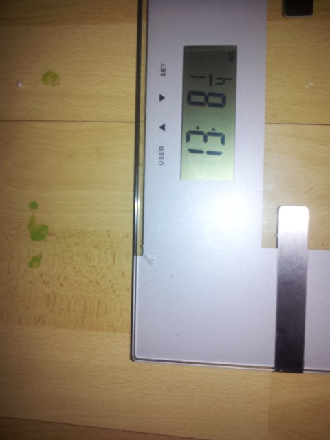 So im 1 1/2 lbs down since yestetday morning. I didnt eat amazinly yesterday either as Hospital sandwich and crisps was my only option last night.   Managed to drink a good 3 litres of water so same today and plenty of clean food and i should see a steady decline in overall weight this week.  Dont get me wrong I know im not losing purely fat here, but im only after total weight for xmas and then the new year is purely Fat Loss.   Did manage 15mins on the bike yesterday to get me back up and running too  Update tomorrow on the outcome.