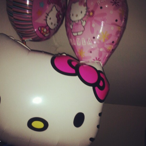 Look who's hiding in my room for a bratty 14 year old! #HelloKitty