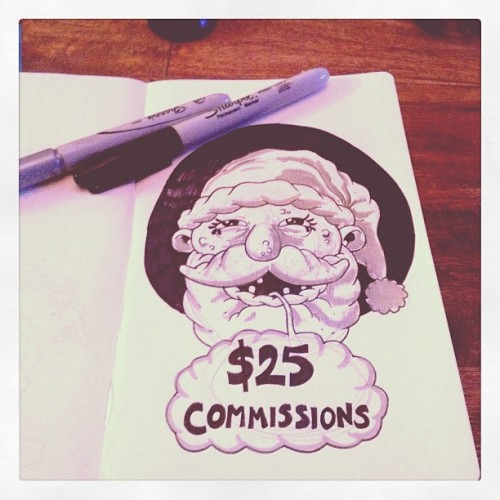 jaredmorgan:  Would anybody be interested in some commissions? I'm thinking $25 for a 5x7 watercolor or ink drawing based on a 3 word prompt (Panter style)? I'm kinda testing the water on this one. Email me at andtheycalledhimjared@gmail.com if yer interested.  Talk about steals!! I wonder if i can raise enough money for him to draw my dreams.