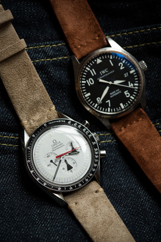 thearmoury:  Hodinkee Watch Straps in sand and fox suede. It's for the sport watches, yes?  Available in store in 18mm and 20mm sizes!