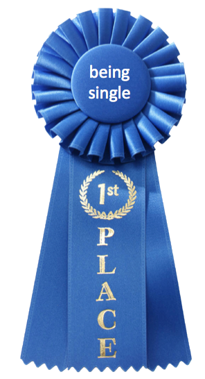 jedidj:  3rd year in a row i've won this prestigious award. *bows* thank you. no no. no need to stand and applaud. *exit stage single*  21 years and going