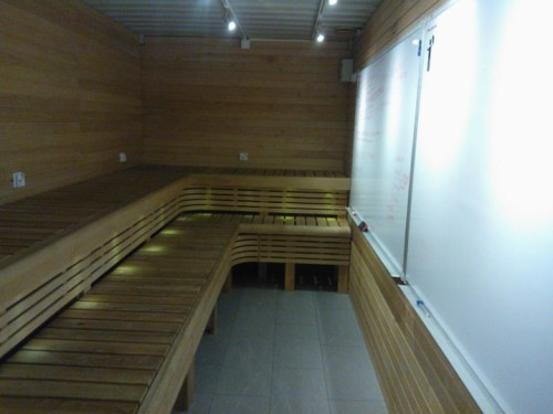 A sauna-style meeting room - what everyone needs in Finland…