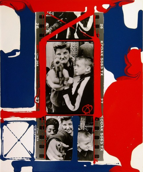Painted contact sheets by William Klein