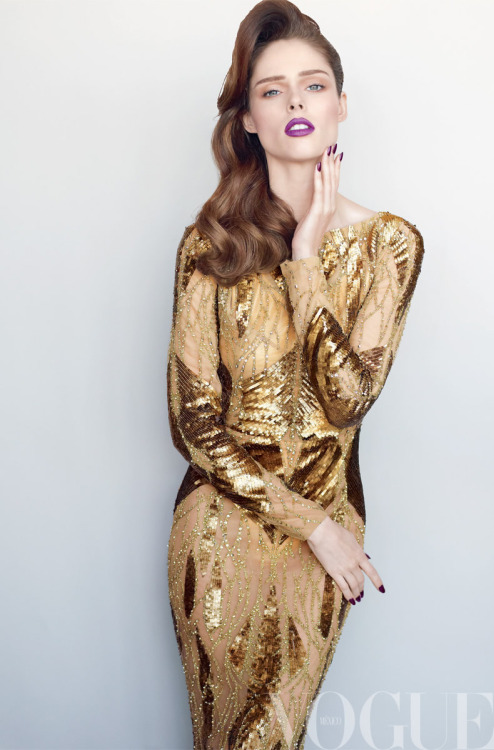 Made of Gold! Coco Rocha in ELIE SAAB Ready-to-Wear Autumn-Winter 2012-13 shot by Regan Cameron for the December cover of Vogue Mexico.