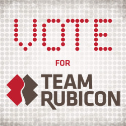 Team Rubicon has responded  to 37 disasters in 34 months. Veterans wanting to continue public service without being in a war zone are using their skills to help those in need. $1M will help them respond to more disasters & enroll the veterans committed to furthering their interests in improving humanity.  Great combo!  They've got my vote.  How about yours?  http://bit.ly/TRvote