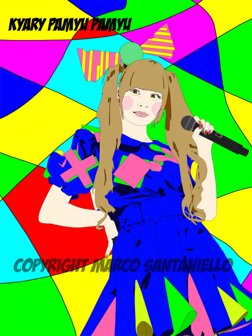 HERE IT IS  A NEW POP PORTRAIT OF AN AMAZING CHARACTER OF HARAJUKU TOKYO! KYARI PAMYU PAMYU !!! SHE'S SO KAWAII AND KAKKOI :D!!!! GRAPHIC BY SUPERSTAR MARCO SANTANIELLO !