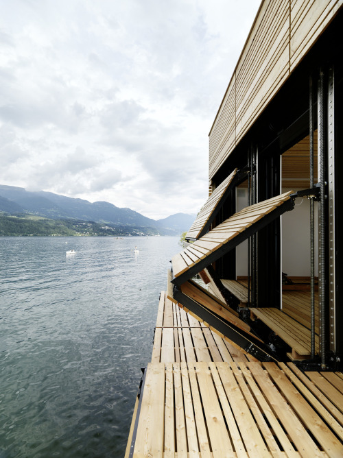 An ingenious detail.  Boat's House at Millstätter Lake by MHM Architects [for article & more images]