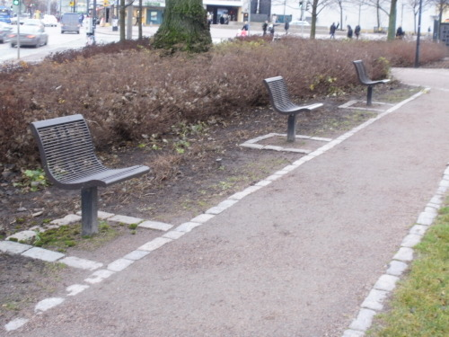 lamppu:  tofinland:  mysoulforhisglory:  tofinland:  Public seating, the Finnish way.  Public seating, the right way.  Oh bby, never said it wasn't! I like how a picture of friggin' benches is one of the most popular pictures on this blog.   Ladies and gentlemen; FINLAND, probably the most socially awkward country in the world (what I said probably)