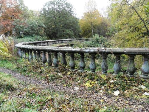 vwcampervan-aldridge:  Mossy over grown Balustrade of an Ornamental Bridge to Chillington Hall, Brewood, Staffordshire. England