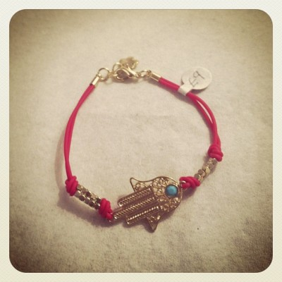 Red Hamsa bracelet now in stock!