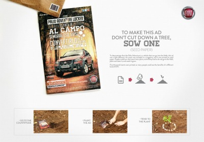 Fiat Palio Adventure Seed Paper Ad by Young & Rubicam
