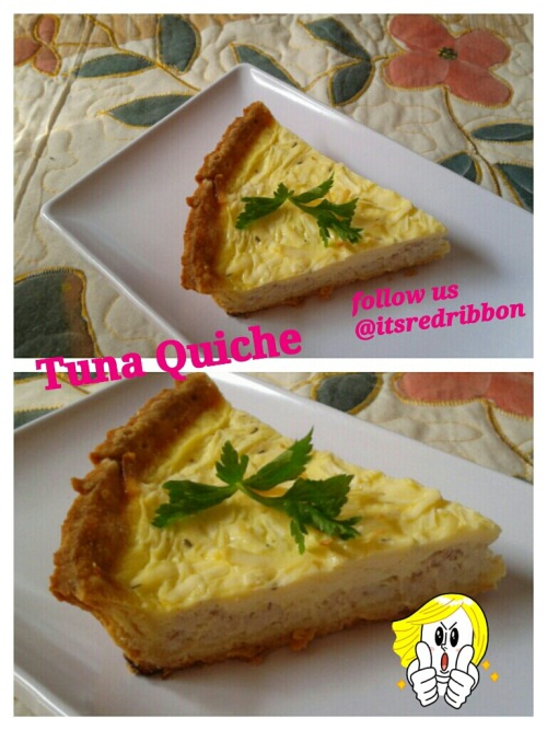 Tuna quiche in slice made by @itsredribbon. Yuumm! at Vinka's Crib – View on Path.