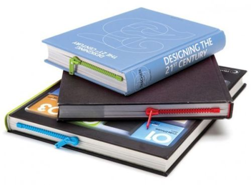 scribnerbooks:  A bookmark that looks like a zipper. Ingenious.