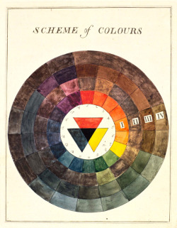 explore-blog:  Color wheel by Moses Harris (1731-1785) from Exposition (1782), a hand-painted version of the modern color wheel. From the archives of the American Museum of Natural History.