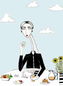 brunch time - illustrated by irene ghillani