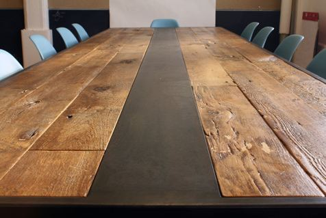 reclaimed wood dinning tableBBMG Studio