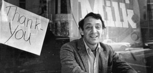 "lgbt-rights:  ""After Harvey Milk became one of the first out gay people elected in 1977, he put up a sign in his store window that just said, ""Thank You."" Thirty-five years later, an out lesbian named Tammy Baldwin would be elected to the US Senate. Remembering Harvey Milk, killed on this day in 1978."""