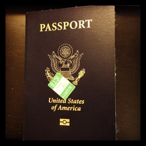 Bringing my passport into work today is such a tease #travel