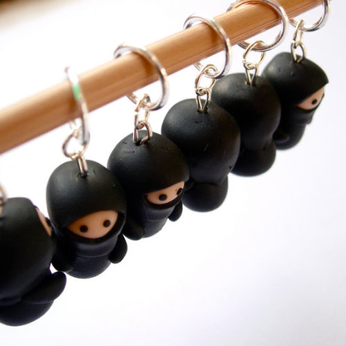 Ninja Knitting Stitch Markers by Lilley on Etsy
