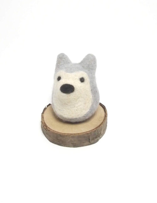 Wolf toy wool wolf felt toy needle felted wolf by needleandfelt