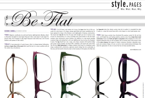 Be Flat - November 19, 2012 (via VisionMonday > Be Flat)