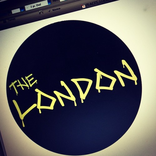 The London. Another bit of typography for a client I'm working with #design #typography #jamesydesign #work #london