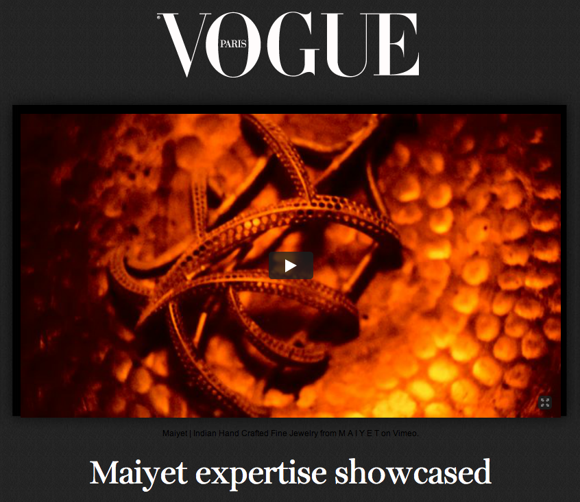 The latest Maiyet artisan video unveils the process behind the Diamond Owl Cuff. View it exclusively on Vogue.fr: http://bit.ly/MaiyetClip