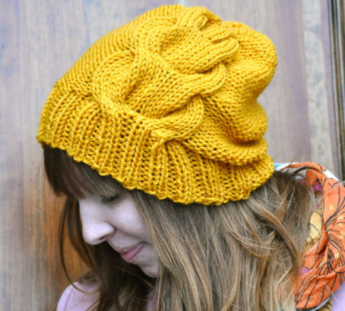KNIT PATTERN for The One Cabled Hat by SansLimitesCrochet on Etsy