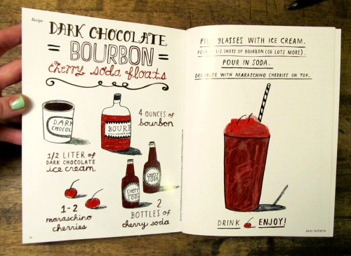 illustrated boozy float recipe in copenhagen-based stella magazine.