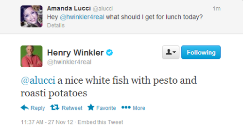 amanda-etc:  Henry Winkler is my spirit guide  amazing