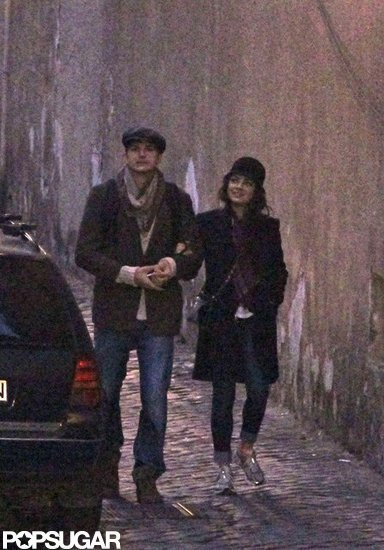 Mila Kunis and Ashton Kutcher Hold Hands in Rome