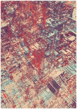 flavorpill:  Intricate Drawings of Futuristic Cityscapes