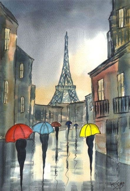 """I love cities in the rain and Paris is particularly beautiful in the rain"" - Woody Allen (via)"